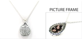 4030120 Picture Frame Locket Necklace Mother Teresa Verse Christian Scripture