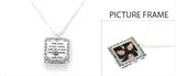 4030122 Picture Frame Locket Necklace Lamentations 3:24 Christian Scripture