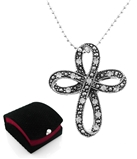 4030128a Beautiful Cubic Zirconia Bow Tie Cross Christian Religious Scripture...