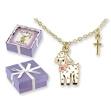 4030129 Lamb Necklace Pendant Baby Christening Baptism Gift