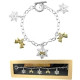 4030131 Angel Snowflake Winter Christmas Charm Bracelet