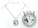4030161 Rodeo Western Cowgirl Necklace with Horse and Sparkling Crystals