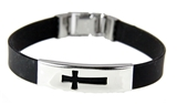 4030168 Cross Bracelet Jesus Christian Religious Silicone Latch