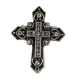 4030187 Christian Cross CZ Stones Religious Stretch Ring Bible