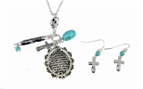 4030216 Serenity Prayer Necklace & Earring Set AA Prayer God Grant Me