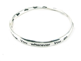4030238 Matthew 8:9 I Will Fllow Twisted Bangle Bracelet Christian Religious
