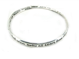 4030239 Revelation 21:4 Twisted Bangle Christian Religious Scripture Wipe Awa...