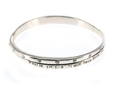 4030240 Psalm 18:1-2 Twisted Bangle Christian Religious Scripture