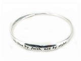 4030242 2nd Corinthians 5:7 Twisted Bangle Bracelet Religious Scripture Chris...