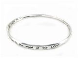 4030243 Zachariah 4:6 Twisted Bangle Christian Scripture Religious Bracelet