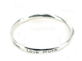 4030257 Live Well Laugh Often Love Much Bangle Bracelet Inspirational Jewelry...