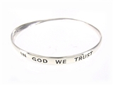 4030258 In God We Trust Patriotic Bangle Bracelet USA Patriot Twisted Design