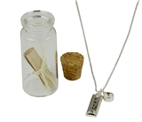 4030276 Message in a Bottle Faith Necklace and Gift Card Friend Encouragement
