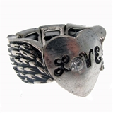 4030288 Love Stretch Ring Heart Christian Scripture Religious