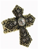 4030289 Cross Stretch Ring Christian Scripture Religious Jewelry