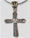 4030291 Cross Neckace Christian Scripture Religious Jewelry