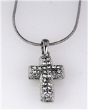 4030293 Cross Neckace Christian Scripture Religious Jewelry CZ Diamonds