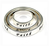 4030294 3 Piece FAITH Scarf Ring Set Christian Inspirational Fashion