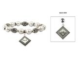 4030298 Faith Beaded Stretch Bracelet Hope Love Christian Bracelet Gift Present