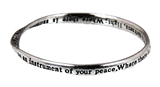 4030307 St Francis Prayer Bangle Bracelet Assisi Instrument of Peace Catholic