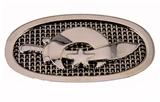 4030328 Polished Chrome Shriner Belt Buckle Shrine Scimitar Crescent Star