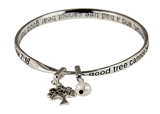 4030333 Matthew 7:18 Tree of Life Twisted Bangle Scripture Verse Family