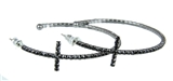 4030376 Rhinestone Cross Hoop Earrings Flexible Petite Christian