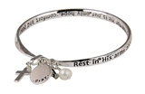 4030428 Rest In His Arms Twisted Bangle Christian Comfort Peace Safety Grieving Mourning
