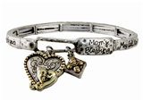 4030431 MOM Blessing Stretch Bracelet Heart Charm Mothers day Gift