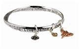 4030435 DANCE LOVE SING LIVE Bangle Bracelet Dancer Charm Dance Team