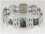 4030457 Christian Saints Icons Holy Religious Stretch Bracelet