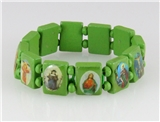 4030460 Wood Holy Saints and Icons Christian Jesus Christ Stretch Bracelet Ca...