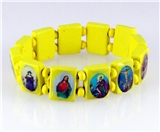 4030461 Wood Holy Saints and Icons Christian Jesus Christ Stretch Bracelet Ca...