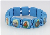 4030464 Wood Holy Saints and Icons Christian Jesus Christ Stretch Bracelet Ca...