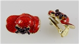 4030481 Red Hat Society Club Redhat Clip On Earrings