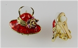 4030485 Red Hat Society Club Redhat Clip On Earrings