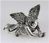 4030488 Angel Brooch Pin Cherub Guardian Religious Lapel