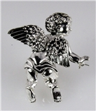4030489 Angel Brooch Pin Cherub Guardian Religious Lapel