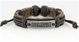 4030525 BELIEVE Leather Bracelet Hope Inspirational Encouragement