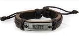 4030528 FAITH Leather Bracelet Christian Inspirational Scripture Jesus Bible ...