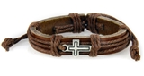4030530 Cross Leather Bracelet Christian Inspirational Scripture Jesus Bible ...