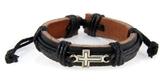 4030532 Cross Leather Bracelet Christian Inspirational Scripture Jesus Bible ...