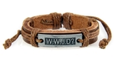 4030533 WWJD What Would Jesus Do Leather Bracelet Christian Scripture Jesus I...