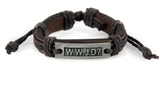 4030534 WWJD What Would Jesus Do Leather Bracelet Christian Scripture Jesus I...