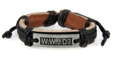 4030535 WWJD What Would Jesus Do Leather Bracelet Christian Scripture Jesus I...