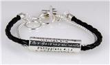 4030548 Philippians 4:13 Christian Bracelet Jesus Religious Christ Bible Leather
