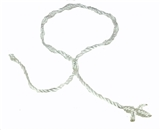 4030564 Set of 3 White Decenario Pulseras Knotted Thread Cross Bracelet Hip Hop Kanye ...