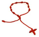 4030566 Set of 3 Red Decenario Pulseras Knotted Thread Cross Bracelet Hip Hop Kanye West