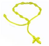 4030567 Set of 3 Bright Yellow Decenario Pulseras Knotted Thread Cross Bracelet Hip Ho...