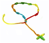 4030570 Set of 3 Rainbow Decenario Pulseras Knotted Thread Cross Bracelet Hip Hop Kany...
